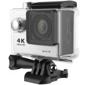 Спортна екшън камера POPcam H9 FullHD 60fps бяла с дисплей + подарък допълнителна батерия