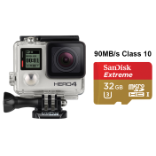 Спортна екшън камера GoPro HERO4 Silver Edition + подарък SanDisk 64GB Ultra microSD 80 mb/s