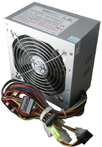 ADK-A550W Power Supply TrendSonic AC 115/230V, 47/63Hz, DC 3.3/5/12V, 550W, OEM, 20+4 pin, 3 x SATA, 2 x IDE, 1XPCIE6P, Cable Length: 450mm, power cable 1.2M incl., 1x120, Efficiency 75%