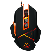 CANYON Optical gaming mouse, adjustable DPI setting 800/1000/1200/1600/2400/3200/4800/6400, LED backlight, moveable weight slot and retractable top cover for comfortable usage