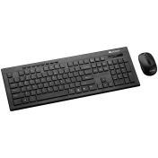 Canyon Multimedia 2.4GHZ wireless combo-set, keyboard 105 keys, slim and brushed finish design, chocolate key caps, BG layout (black); mouse adjustable DPI 800-1200-1600, 3 buttons (black)