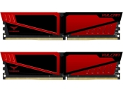 RAM памет Team Group T-Force Vulcan 8GB (2 x 4GB) 2666MHz DDR4, Red, TLRED48G2666HC15BDC01
