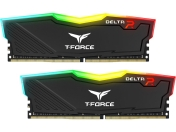 RAM памет Team Group 16GB (2x8GB) T-Force Delta RGB DDR4 3200MHz, черен, TF3D416G3200HC16CDC01