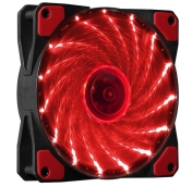 Вентилатор Makki 120mm RED LED, MAKKI-FAN120-15RD