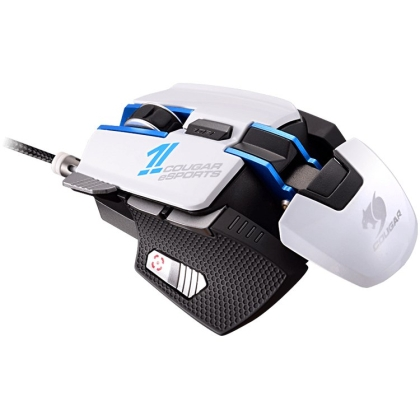 Cougar 700M eSPORTS gaming mouse,8200 DPI,32-bit ARM Cortex-M0,On-board memory 512KB,Aluminum/Plastic,Software Cougar UIX™ System,OMRON gaming switch,8 Programmable buttons,Frame rate 12000 FPS,Cable Length 1.8m Braided