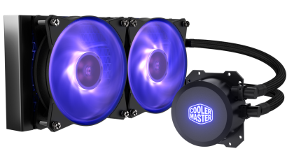 Охладител за процесор Cooler Master MasterLiquid Lite ML240L RGB CPU, течно охлаждане, AMD/INTEL