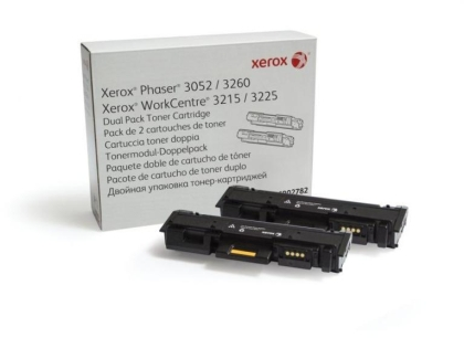 Xerox Phaser 3052, 3260/ WorkCentre 3215, 3225 Dual Pack Toner Cartridge