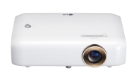 LG PH550G Minibeam, RGB LED, HD (1280x720), 100000:1, 550 ANSI Lumens, HDMI(MHL), USB(a), BT, Speakers, 3D Optimazer, Built-In Battery, White