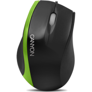 Input Devices - Mouse Box CANYON CNR-MSO01N (Cable, Optical 800dpi,3 btn,USB), Black/Green