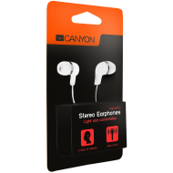 Stereo earphones, White