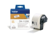 Brother DK-11208 Large Address Paper Labels, 38mmx90mm, 400 labels per roll, (Black on White)