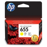 HP 655 Yellow Ink Cartridge
