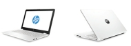 "HP 15-bw001nu White, AMD A6-9220 with Radeon R4(2.5GHz, up to 2.9 GHz/1MB), 15.6"" HD BV + WebCam, 4GB DDR4 1866Mhz, 500GB HDD, DVDRW, WiFi b/g/n + BT, 4C Batt, Free DOS"