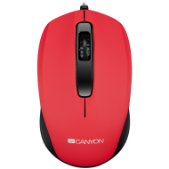 Optical wired mice, 3 buttons, DPI 1000, Red
