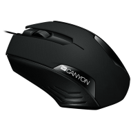 Optical wired mice, 3 buttons, DPI 1000, Black