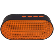 Canyon Portable Bluetooth V4.2+EDR stereo speaker with 3.5mm Aux, microSD card slot, USB / micro-USB port, bulit in 300mA battery, Black and Orange