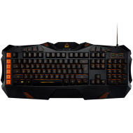 CANYON Wired multimedia gaming keyboard with lighting effect, Marco setting function G1-G5 five keys. Numbers 118keys, US layout