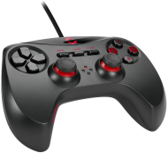 Speedlink STRIKE NX Gamepad - for PC with USB connector, 8 front buttons, 2 bumpers, 2 analogue triggers, 2 analogue sticks, digital D-pad, realistic vibrations, Cable: 1.8m, black
