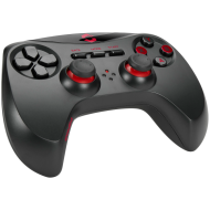 Speedlink STRIKE NX Gamepad - Wireless - for PC, Up to 10m range and 8hrs' gaming time, 8 front buttons, 2 bumpers, 2 analogue triggers, 2 analogue sticks, digital D-pad, Incredibly realistic vibrations, black