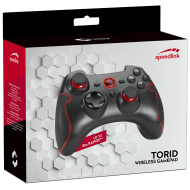 Speedlink TORID Gamepad - Wireless - for PC-PS3,analog sticks and digital 8-way D-pad for maximum precision, 2 analog triggers, 2 bumpers and 10 digital buttons incl. Start and Back, black