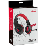 Speedlink LEGATOS Stereo Gaming Headset, Inline remote, Sensitive microphone with fold-away arm,Padded, airy earcups, Cable: 1.8 m, black