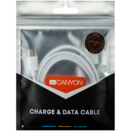 CANYON Type C USB Standard cable, 1M, White