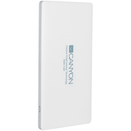 CANYON Power bank 5000mAh (Color: White), bulit in Lithium Polymer Battery