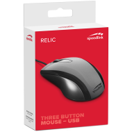 Speedlink RELIC Mouse, Fully-fledged 3-button, ptical sensor with precise 1,000dpi resolution, Suitable for right or left-handers, Cable: 1.4m, grey