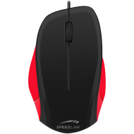 Speedlink LEDGY Mouse - wired,3-button mouse,Ergonomic shape for right-handed use, 900dpi optical sensor, Cable: 1.3m, black-red