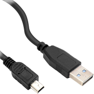 Speedlink Mini-USB Cable, USB-A to Mini-USB Type B, Data transfer speeds of up to 480Mbit/s, 0.25m HQ