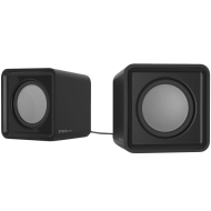 Speedlink TWOXO Stereo Speakers, 5W RMS (2 × 2,5W), 50 Hz – 20 kHz, USB-powered stereo speakers for any device with a 3.5mm audio output, black