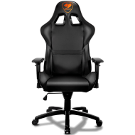 COUGAR Armor Gaming Chair Black, Piston Lift Height Adjustment,180º Reclining,Adjustable Tilting Resistance,3D Adjustable Arm Rest,Full Steel Frame,Ultimate Quality: Class 4 Gas Lift Cylinder