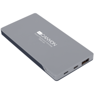 CANYON Power bank 10000mAh (Color: Dark Gray), bulit in Lithium Polymer Battery